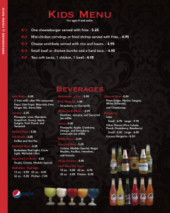 Cascabels menu 8
