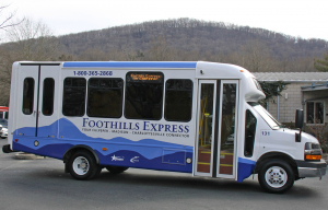 Foothills Express Bus Wrap