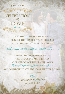 Wedding Invite 1